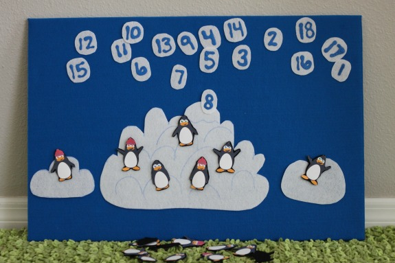 Penguin Counting Felt Board Game