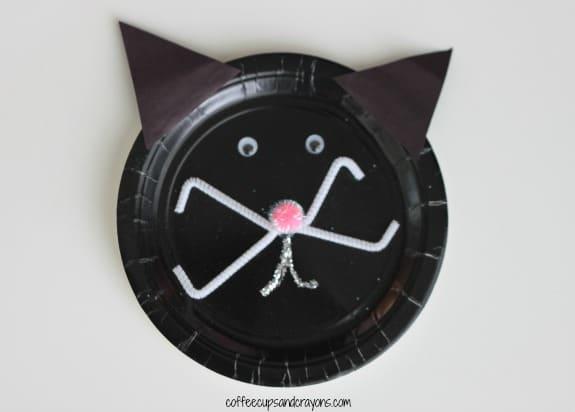 Black Cat Paper Plate Kids Craft