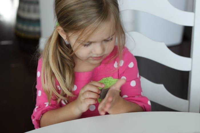 Fine Motor and Math Busy Bag for Kids Play Dough Mat