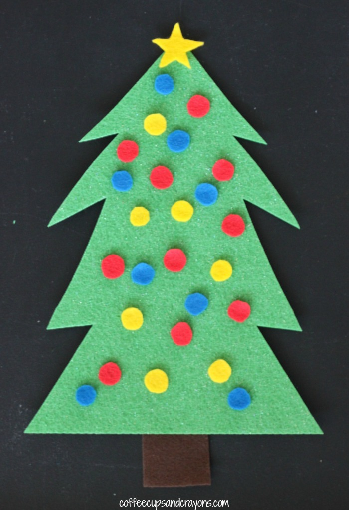 Christmas Tree Decorating Felt Busy Bag for Kids!