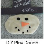 Homemade Valentine for Kids: Play Dough Snowman
