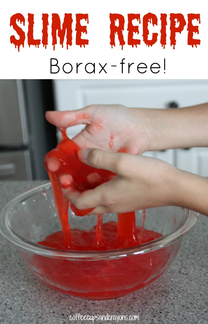 Easy 2 ingredient slime recipe for kids! No Borax in this one. :)