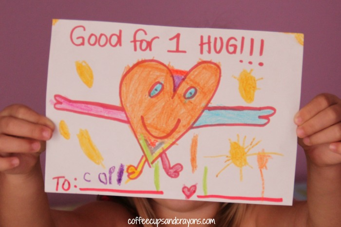 Easy Act of Kindness--Hug Coupons!