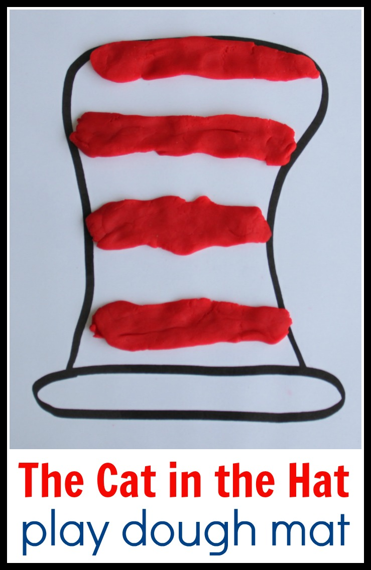 Free Printable Dr. Seuss Cat in the Hat Play Dough Mat