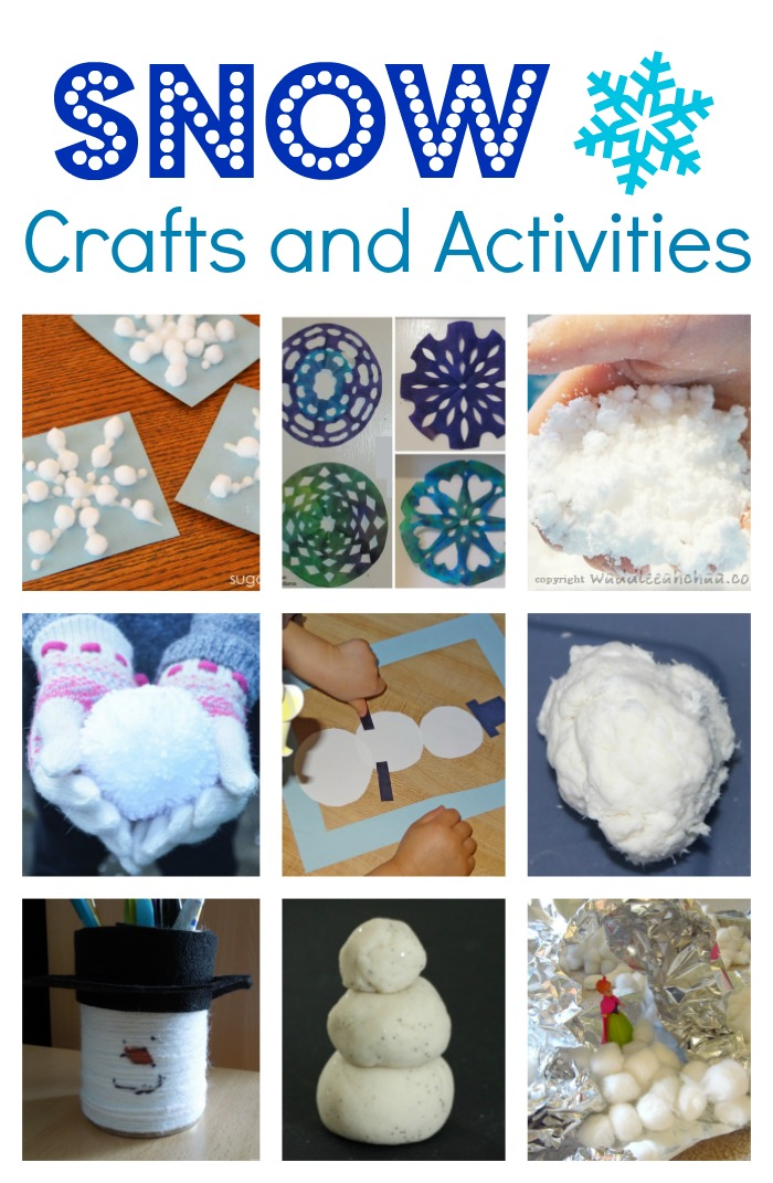 snow crafts and activities for kids coffee cups and crayons