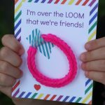 Rainbow Loom Valentines for Kids