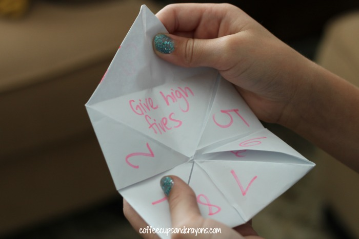 Fun Kindness Activity for Friends Make a Acts of Kindness Paper Fortune Teller