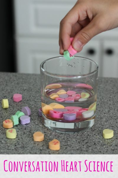 Conversation Heart Candy Science Experiments