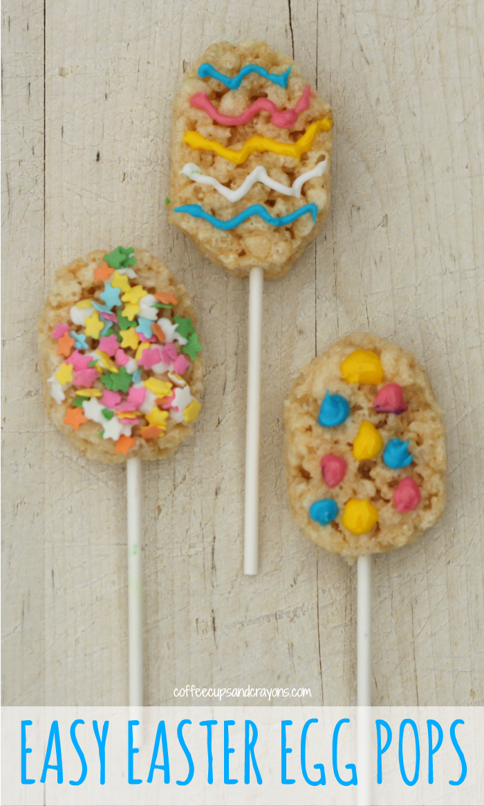 EASY Easter Egg Rice Krispie Treat Pops!