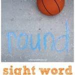 Sight Word Basketball Activity