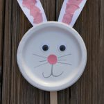 Bunny Paper Plate Puppet Craft