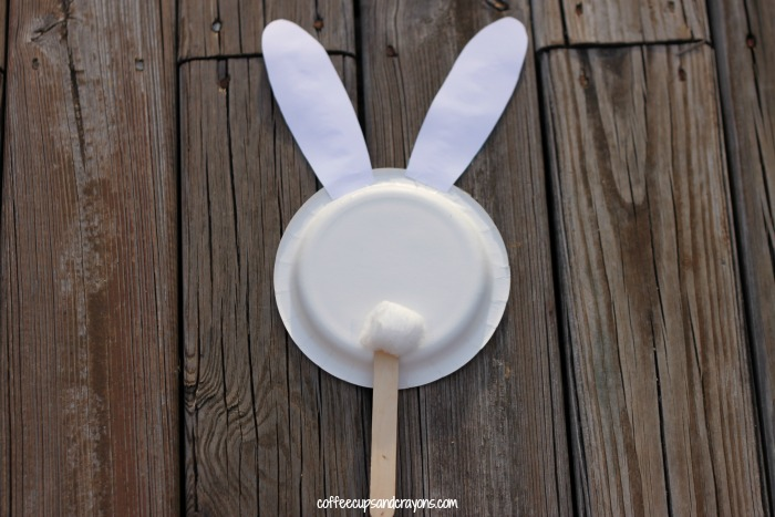 Easter Craft for Kids Bunny Puppet!