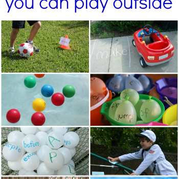 Sight Word Games to Play Outdoors