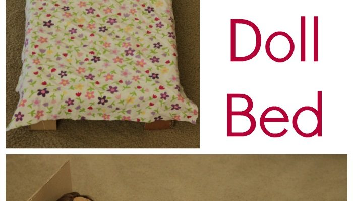 How to Make a Simple American Girl Doll Bed with No Sew Bedding