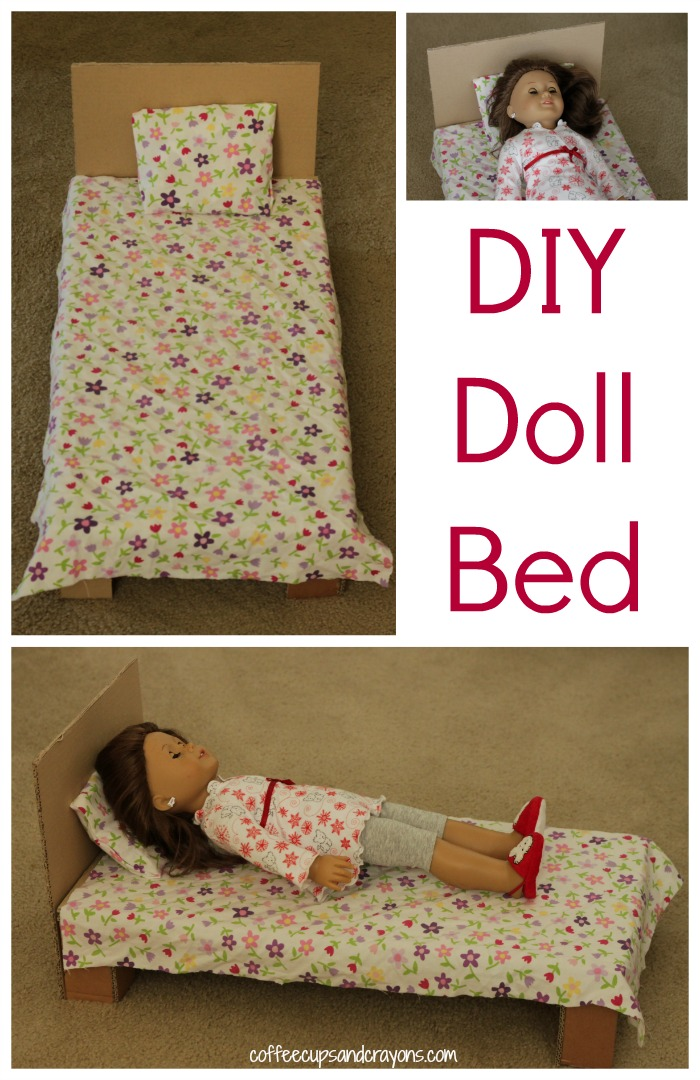 Diy American Girl Doll Bed Coffee Cups And Crayons