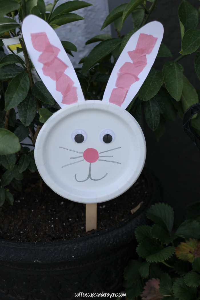 Preschool Paper Plate Bunny Craft for Kids