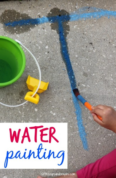 Water Painting Writing Practice for Kids!