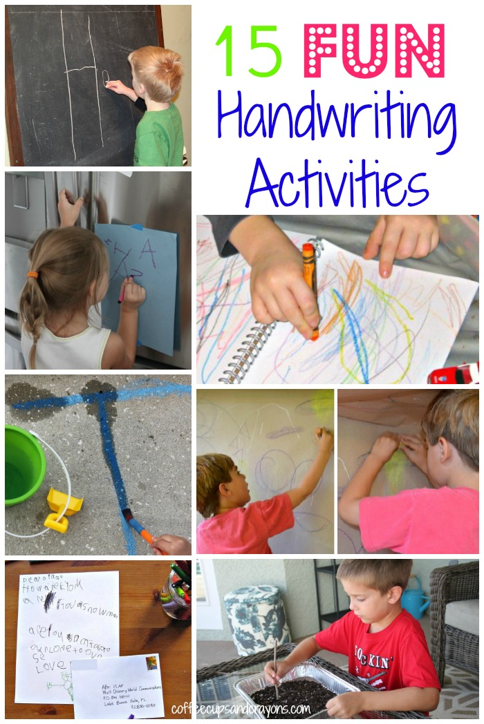 15 Fun And Easy Sewing Projects For Kids: 15 Fun Ways To Practice Handwriting