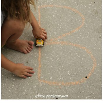 Letter Tracing with Cars