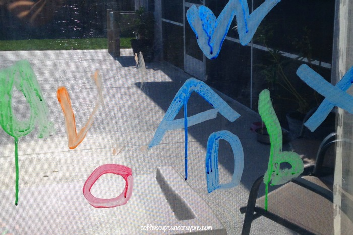 Make handwriting practice FUN with window paint!
