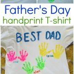 DIY Father's Day Handprint Shirt
