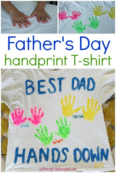 Best Dad Hands Down T Shirt With Paint