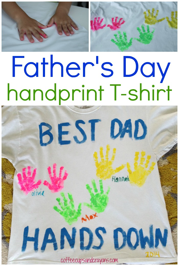 DIY Father's Day Handprint Shirt {easy to make}