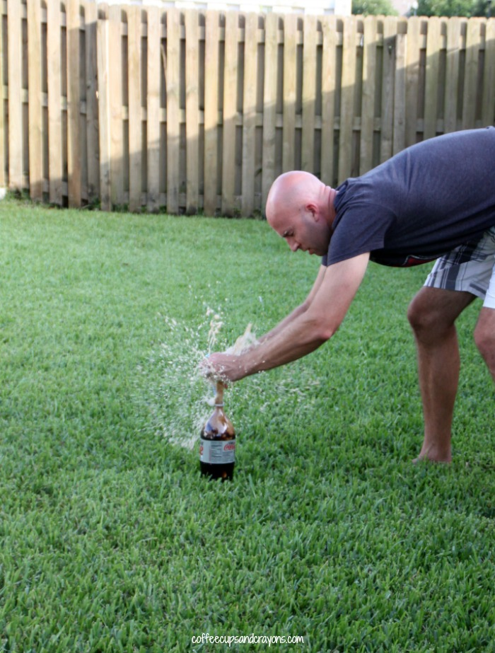 How to do the classic Diet Coke and Mentos experiment