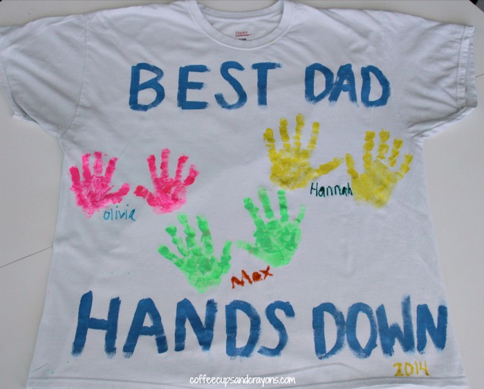 Kids Handprint T Shirt for Father's Day
