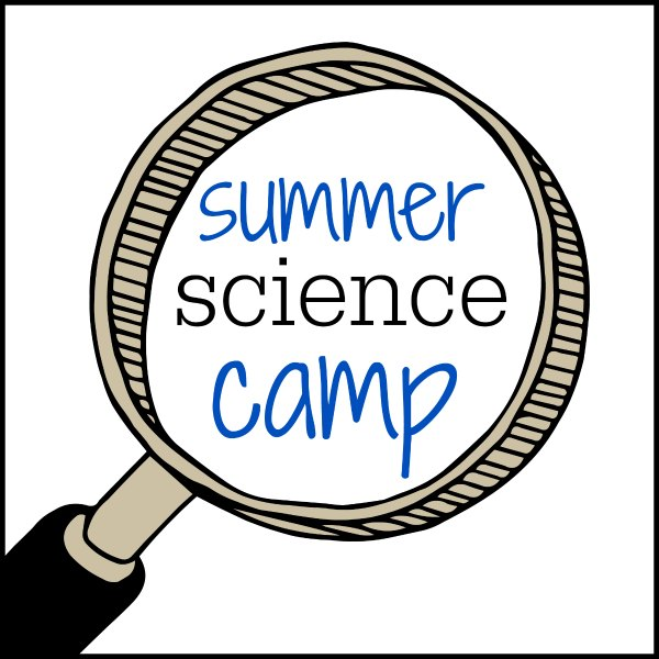 summer science camp blue