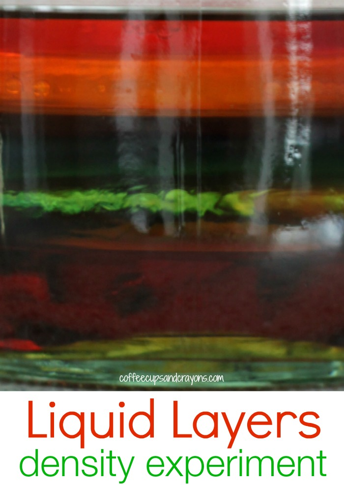 Cool Density Science Experiment for Kids! Layer liquids in a jar--awesome!