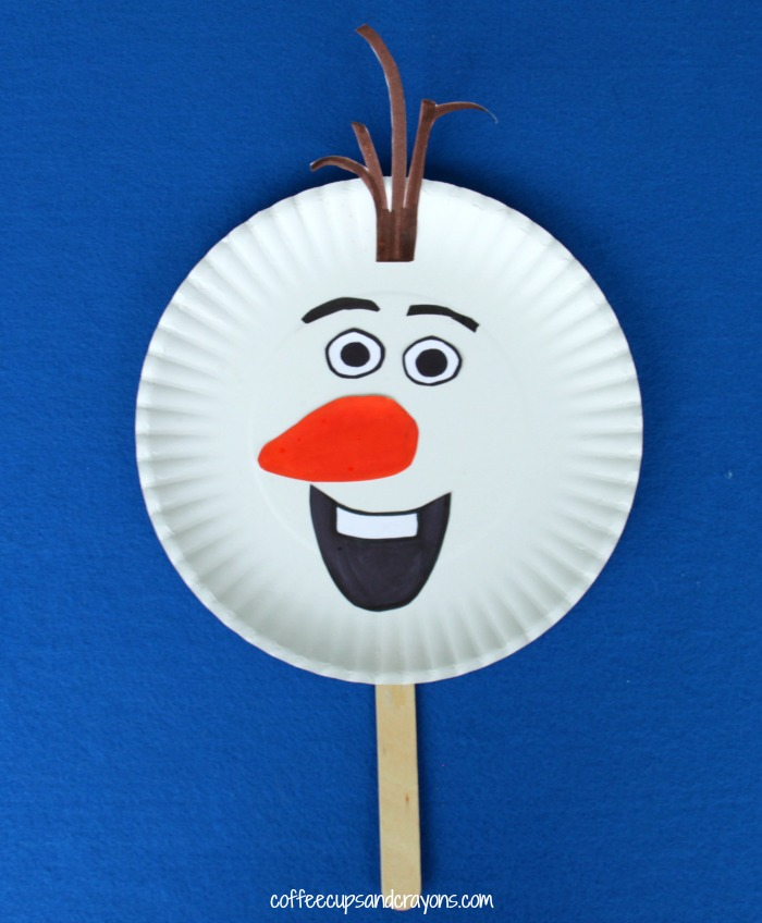 Olaf Puppet Kids Craft from Frozen
