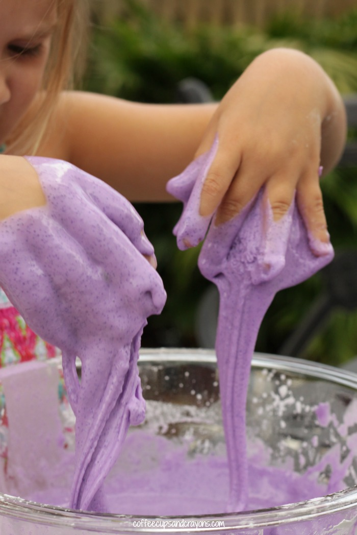 Grape Goop Oobleck Recipe for Kids