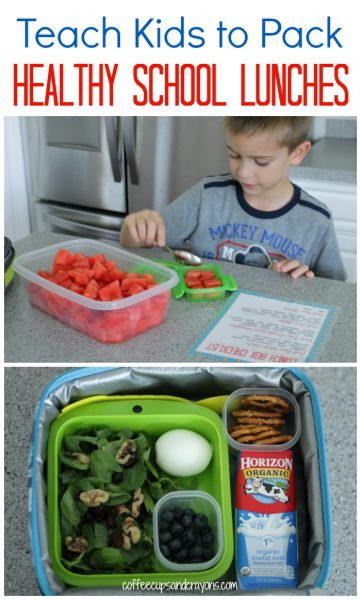 Teach Kids to Pack Healthy School Lunches! Free Printable Lunch Box Checklist for Kids Included!
