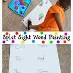 Splat Sight Word Painting