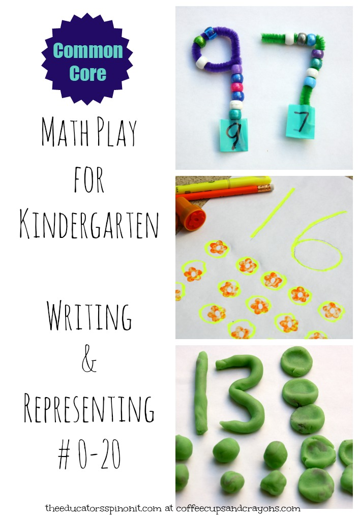 Math Play for Kindergarten Learning to write and represent numbers 0-20!