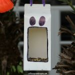 Ghost Bird Feeder Halloween Craft