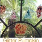 Glitter Pumpkin Suncatcher Craft