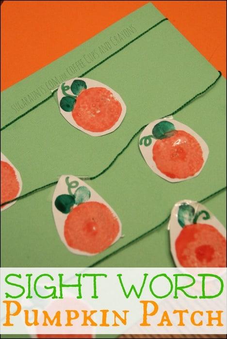 Sight Word Pumpkin Patch Practice