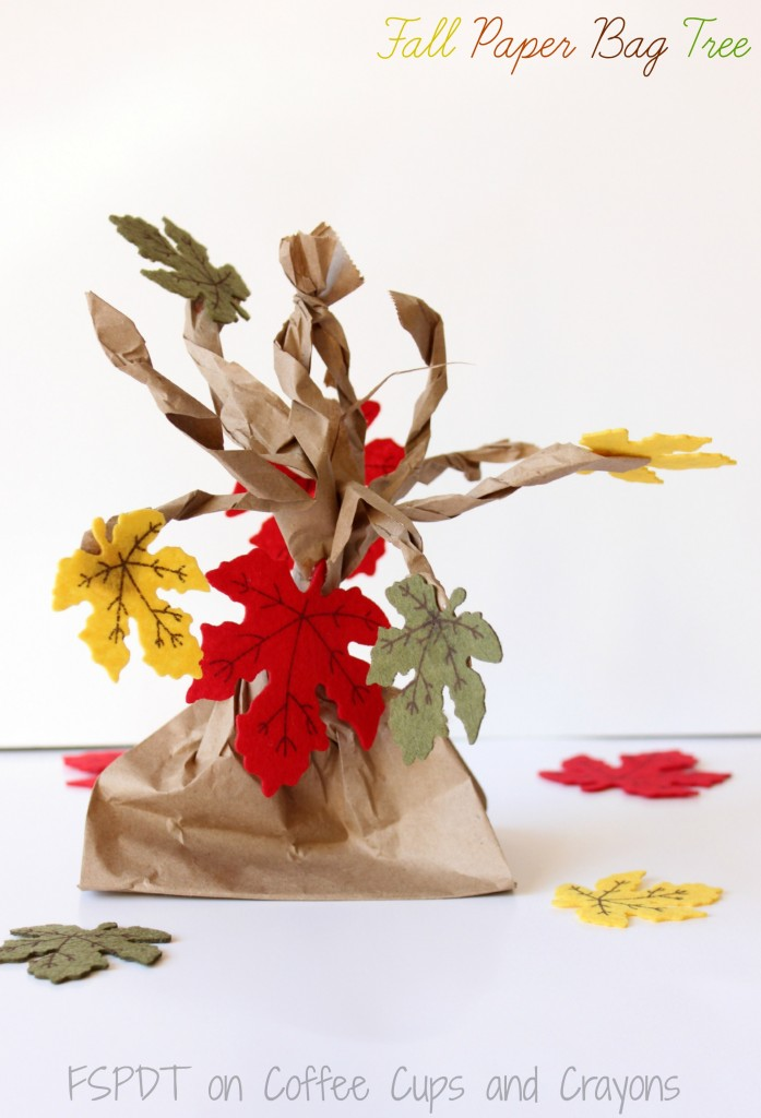 paper bag crafts fall paper bag tree coffee cups and crayons 2606