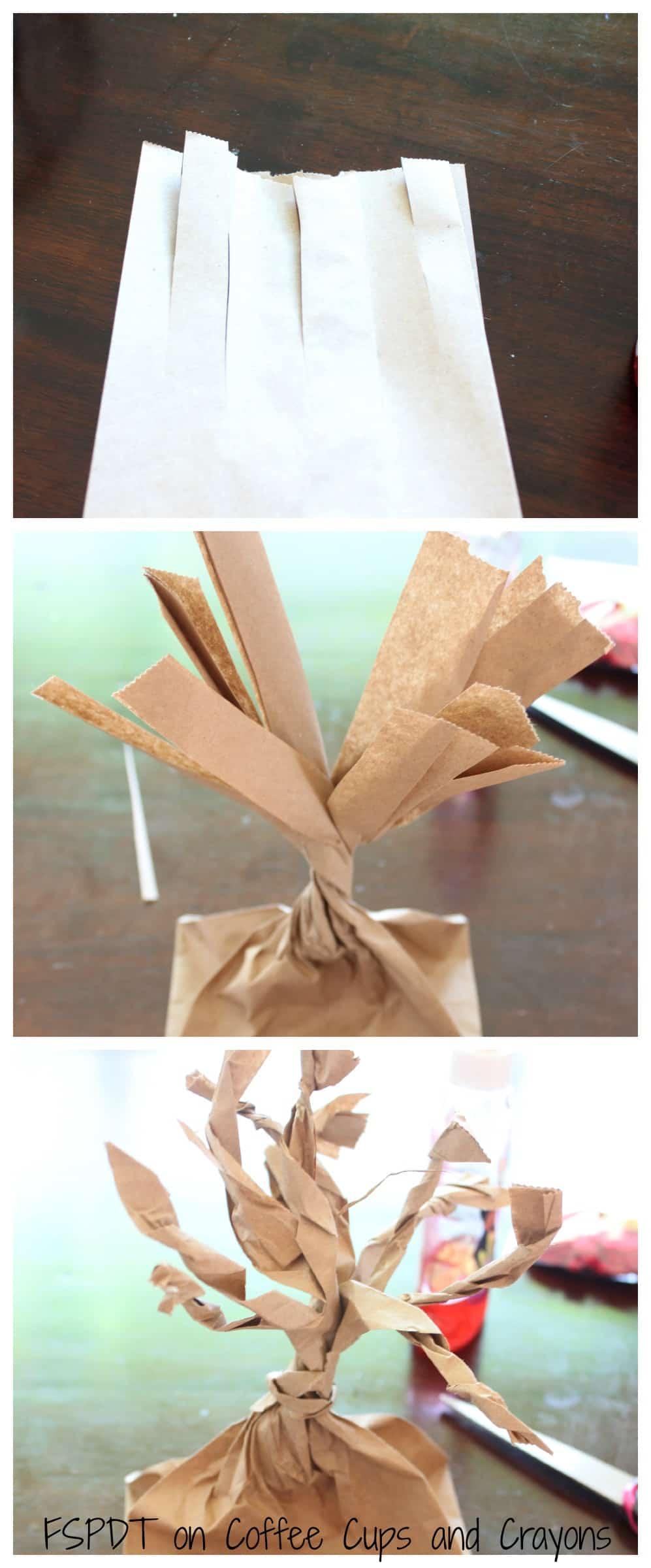 Paper Bag Tree Craft for Kids