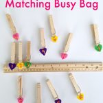 Number Matching Preschool Busy Bag