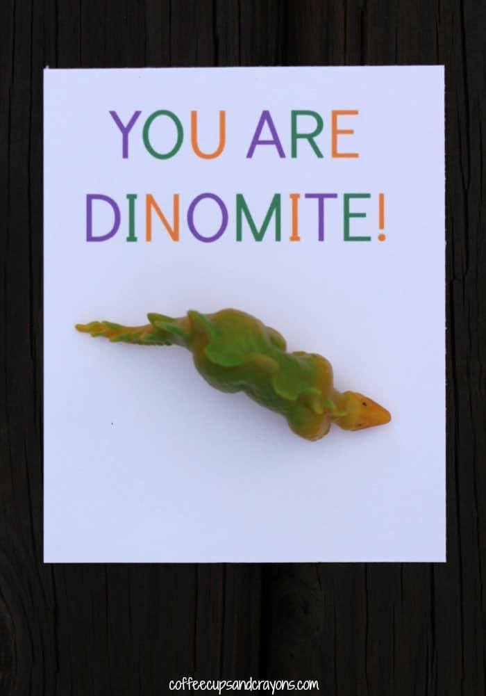 You are DINOMITE Free Printable Valentine for Kids!
