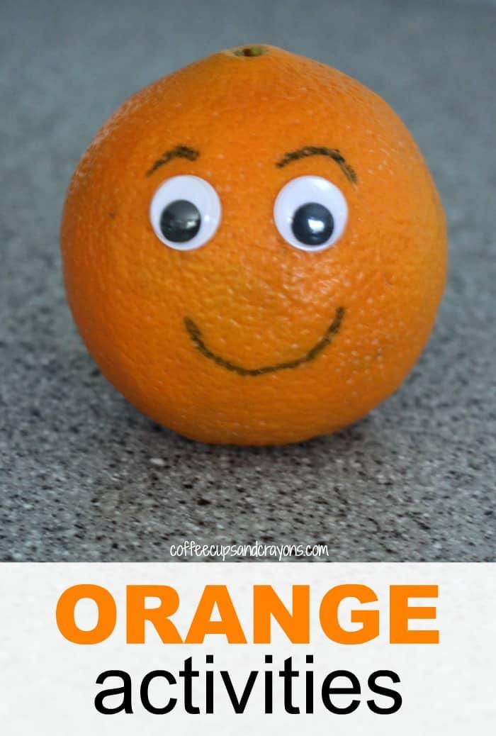 Orange Craft and Snack for Preschool