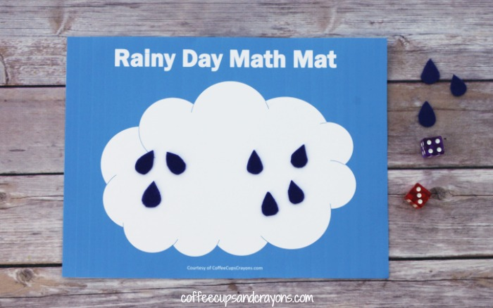 Free Math Mat Busy Bag for Kids! Practice counting or addition in a fun way!