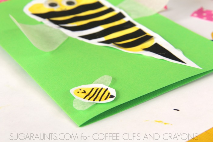 Thanks for Bee-ing my friend fingerprint and footprint craft