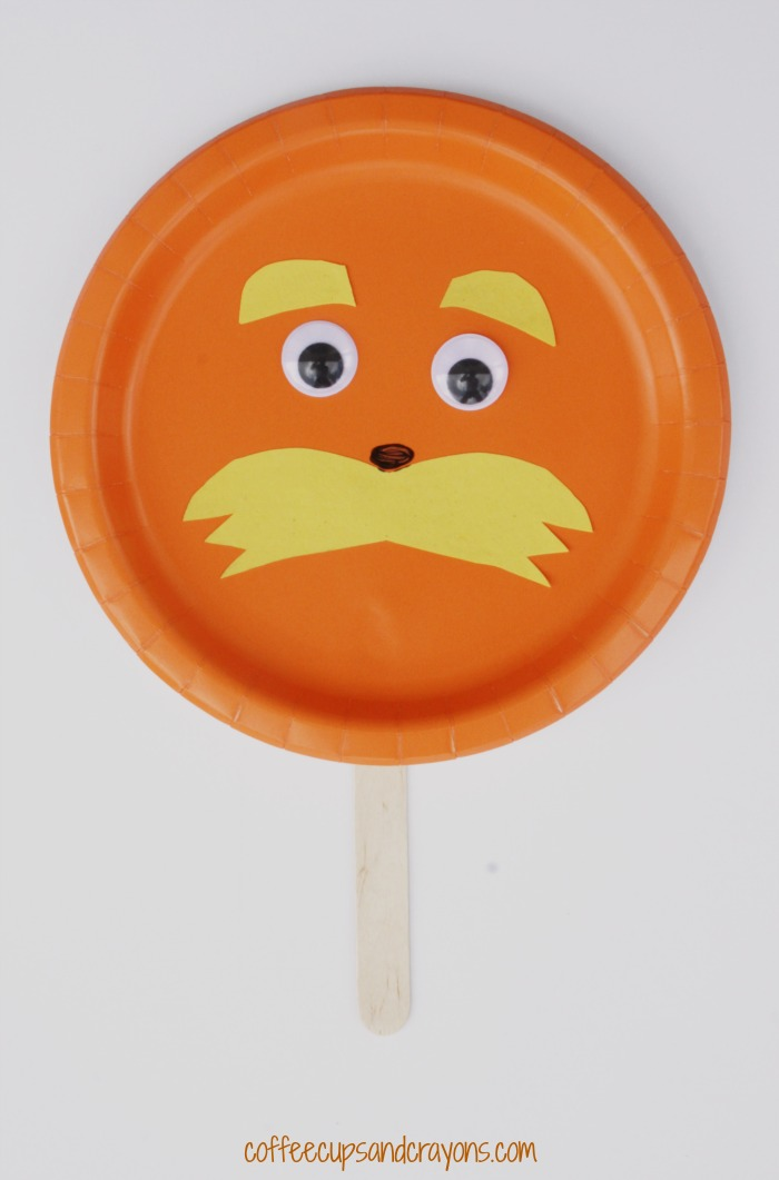 dr seuss paper plate craft orange paper plate yellow paper googly eyes ...