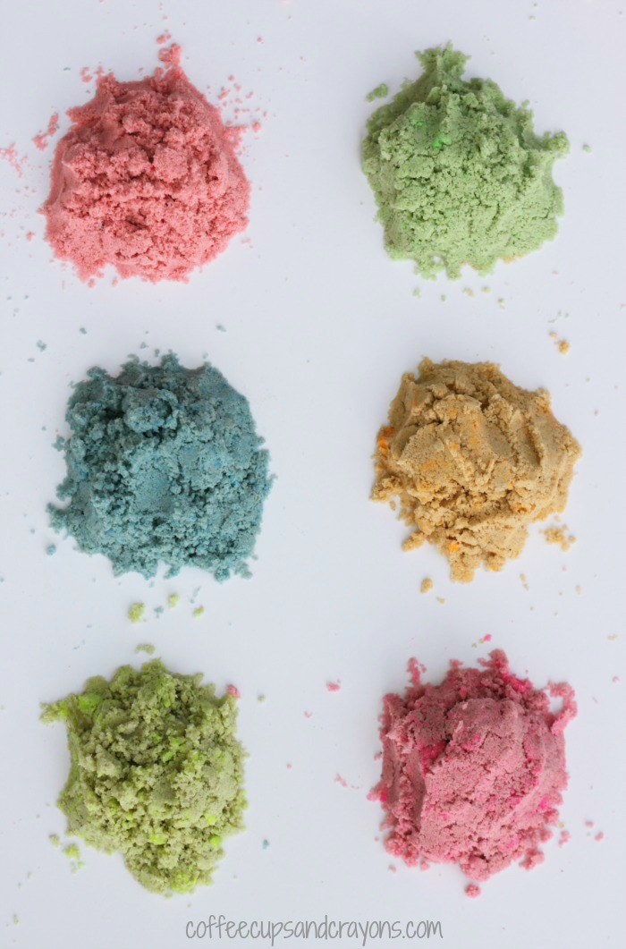 How to Make Colored Sand | Coffee Cups and Crayons