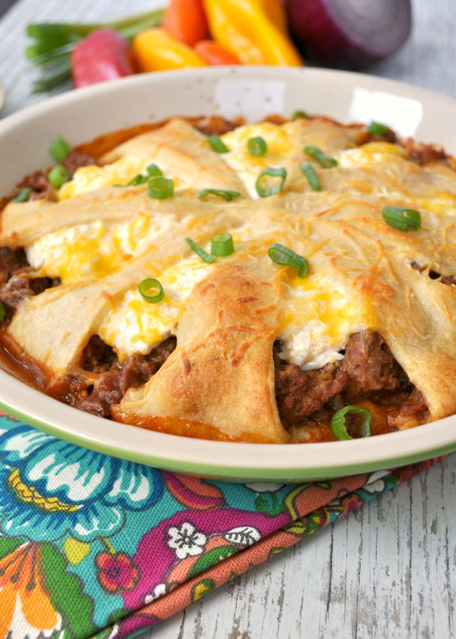 Lightened Up Taco Crescent Casserole 2
