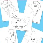 Ocean Animals Tracing Coloring Pages